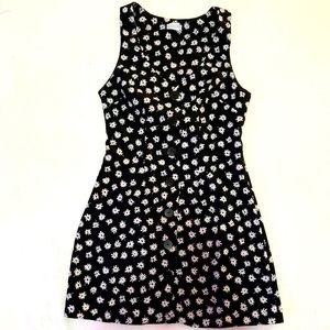 Cooperative Black & White Floral Button Up Dress